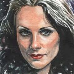 A portrait of Mary Tamm, who played Romana in Dr Who. RIP Mary.