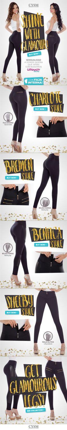Shine with Glamour - Piernas y Glúteos Sensacionales con los pantalones LIFTOUCH ULTRA FLEX   Los únicos pantalones con faja interna de costuras invisibles que aumentan tus glúteos!