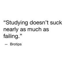 Study motivation! Failing is not an option