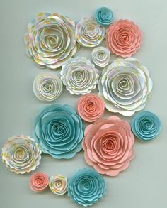 white, coral pink and sky blue these are def wedding colors I'd love!!