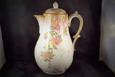 Antique-Martial-Redon-Hand-Painted-Porcelain-Limoges-France-1890s-Coffee-Pot-WOW