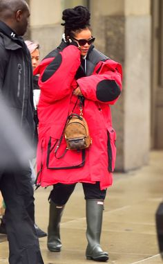 Rihanna from The Big Picture  What a coat! The songstress does not mess around with her outwear during a cold day in The Big Apple.