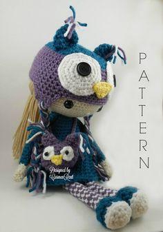 Claire  Amigurumi Doll Crochet Pattern by CarmenRent on Etsy ♡