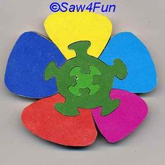 Flower #14 Puzzle Scroll Saw Pattern