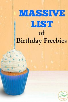 Get free things every day of your birthday month with this huge list of birthday freebies.