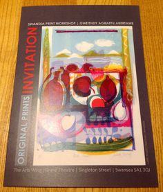 Swansea Print Workshop, annual show, 2015 Swansea, Workshop, Wings, Invitations, The Originals, Blog, How To Make, Art, Art Background
