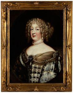 PORTRÄT DER KÖNIGIN MARIA THERESIA (1638 - 1672), GEMAHLIN VON LOUIS XIV Öl auf Leinwand. Doubliert. 67 x 49 cm. Die Königin im Brustbildnis wiedergegeben,...