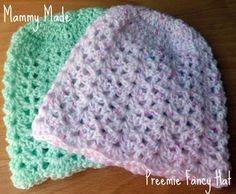 Mammy Made: Preemie/newborn fancy hat free crochet pattern