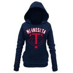 Minnesota Twins 5th & Ocean by New Era Women's Hot Corner Pullover Hoodie - Navy - $38.39