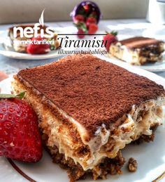 Turkish Recipes, Ethnic Recipes, Mousse, Snack Recipes, Snacks, Tiramisu Cake, Mini Cakes, Cakes And More, Pavlova