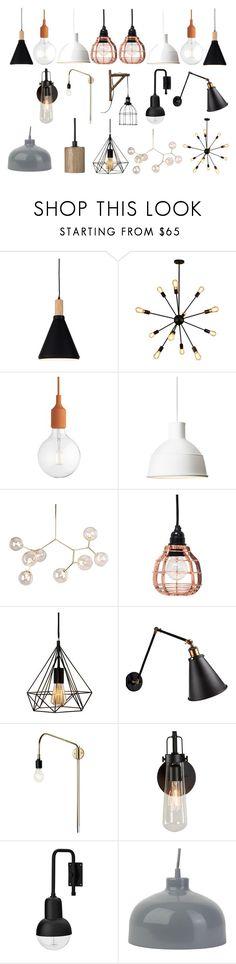 Lighting by ioana-buzila on Polyvore featuring interior, interiors, interior design, home, home decor, interior decorating, Muuto, Lene Bjerre and Nuevo