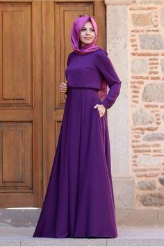Gülce Elbise - Mor - An Nahar