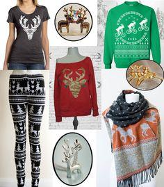 Poromuotia Etsyssä   Reindeer  fashion from Etsy #joulu #christmaswear