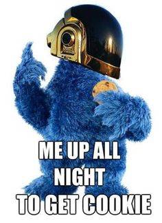 daft cookie monster