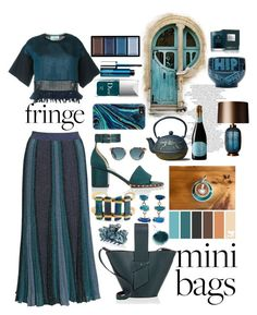 """Bleeding Blues"" by pulseofthematter ❤ liked on Polyvore featuring 3.1 Phillip Lim, Carolina Santo Domingo, Old Dutch, Heathfield & Co., Clé de Peau Beauté, Clinique, Christian Dior, Molton Brown, Casetify and Valentino"