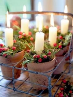 Adorable candle ideas for the holidays!