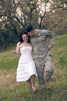 A Romantic, Military Engagement Shoot: Uniforms & Love Letters | Bridal Musings Wedding Blog