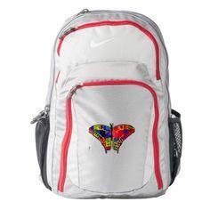 YouCustomizeIt Polka Dot Butterfly Duffel Bag Personalized