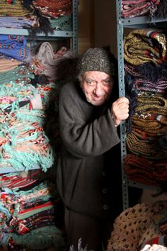 Passionate artist with his hand sewn fabrics