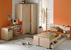 City Roomset with single extendable bed...
