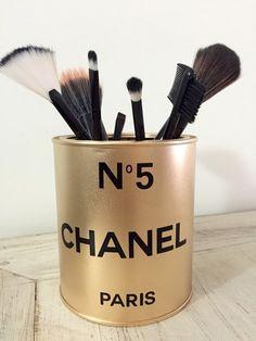 Porta pincel Inspired N5 Chanel Gold | R$39,90