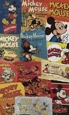 Papier peint enfant Panoramique Mickey Billboard - Komar
