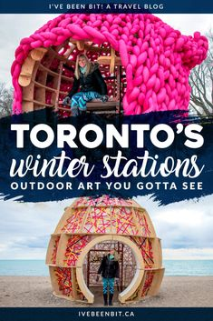 Winter Stations Toronto, Outdoor Art You Gotta See! While the winter weather may not having you wanting to visit the beach, I promise these art pieces will. See why you gotta check out the Winter Stations art collection in Toronto, Ontario, Canada! Toronto Canada, Toronto Winter, Canada Ontario, Ottawa Ontario, Montreal Canada, Ontario Travel, Toronto Travel, Vancouver, Outdoor Art