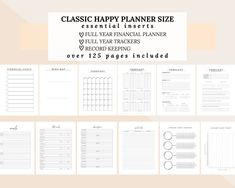 Happy Planner Inserts for Finance, Savings, Debt, Goals, Habits, Sleep, Mood, Passwords, Subscriptions, Social Media, and MORE, Classic Size by DesignerJaim on Etsy Goals Planner, Blog Planner, Happy Planner, 2015 Planner, Media Kit Template, Business Planner, Mood Tracker, Monthly Goal, Monthly Budget