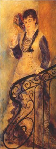 Woman on a Staircase - Pierre-Auguste Renoir