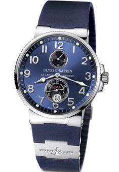 Ulysee Nardin Maxi Marine Stainless Steel Blue Dial Men's Replica Watch