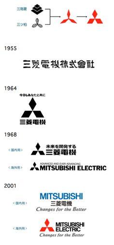 三菱電機 : 国内外の企業・製品 ロゴマーク変遷史 - NAVER まとめ