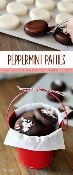 Adorable, delicious, and so much better than store-… Homemade peppermint patties. Adorable, delicious, and so much better than store-bought. Mini Desserts, Holiday Desserts, Holiday Baking, Holiday Treats, Holiday Recipes, Christmas Baking Gifts, Easy Christmas Baking Recipes, Holiday Candy, Homemade Christmas Candy