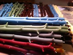 Doug Collum's stick candles: he will be offering several very nice pieces for the Gala's silent auction!