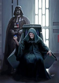 Darth Vader and the Emperor of the Galactic Empire and Dark Lord of the Sith, Darth Sidious. by Darren Tan Wallpaper Darth Vader, Star Wars Wallpaper, Images Star Wars, Star Wars Pictures, Anakin Vader, Darth Maul, Cuadros Star Wars, Gato Anime, Vader Star Wars