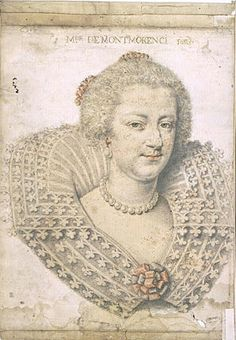 """Portrait of Madame de Montmorency"" by Daniel Dumoustier (1620-1630)"