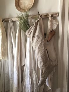 Primitive Linen Stocking by 1871Farmhouse on Etsy