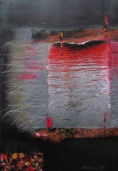 """""""Åse Margrethe Hansen/Refleksjoner, 2009. Mixed media on paper"""""""