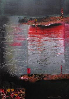 Åse Margrethe Hansen/Refleksjoner, 2009. Mixed media on paper