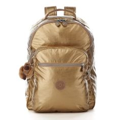 Kipling Seoul gold metallic backpack