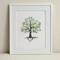 INSTANT DOWNLOAD / The Summer Folk Tree / Instant Wall Art or | Etsy