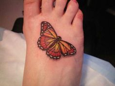 26 Butterfly Tattoos On Foot To Make You Feel The Touch of The Dainty Butterfly - 26 - Pelfind Butterfly Tattoos For Women, Butterfly Tattoo Designs, Dragonfly Tattoo, Foot Tattoos, Small Tattoos, Girl Tattoos, Sleeve Tattoos, Tatoos, Autism Tattoos