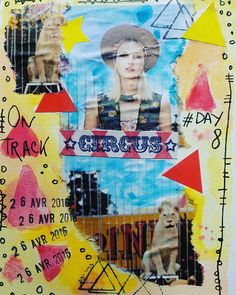 Day 8  en piste #circus #enpiste #ontrack #100dayproject #100daysofmyajcollage #artjournal #artjournaleveryday #artjournalpage #page #collage #instacreativity #journal #journalpage #scrap #scketchbook #papercollage