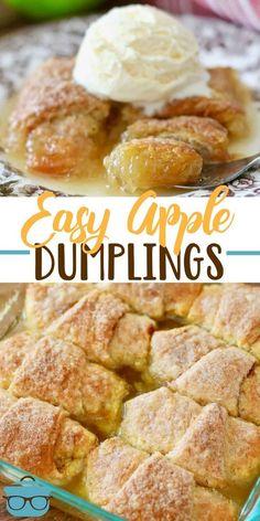 Apple Dessert Recipes, Köstliche Desserts, Baking Recipes, Snack Recipes, Easy Apple Desserts, Apple Recipes Easy, Pea Recipes, Easy Desserts For Thanksgiving, Cupcake Recipes