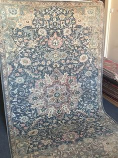 Vintage from the 1950s  Handmade  Material  Wool  Dimensions  Length: 8.6 Feet; Width: 4.11 Feet  Description  VINTAGE HANDMADE TURKISH OUSHAK RUG.!  Low pile rug!!  ***Origin:Oushak Region of Turkey  ***Size: 4.11x8.6 feet / 150x260 cm  ***Age:About 70 years old  ***Material:Wool on cotton  ***Condition:In low pile,perfect vintage  ***Design:Traditional Turkish  ***Care:Only Dry Cleaning  ***Item Code:  WASHED and CLEANED PROFESSIONALLY,READY TO USE. Cleaning Items, Pastel Blue, Rug Runner, Vintage Rugs, Vintage Designs, Traditional, The Originals, Handmade
