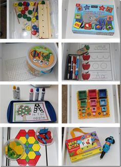 Toddler tray activities to keep busy while homeschooling