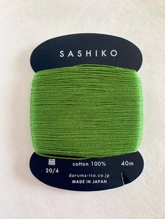 Daruma sashiko threads come in three sizes - thin (40m), medium/regular (30m) and thick/ kogin (20m), wound on hand carry cards. 100% cotton. Made in Japan. This card has 40m thin weight sashiko thread. Japanese Cotton, Kyoto Japan, Gift Store, Color Show, Green Colors, Creative, Facebook Instagram, Medium