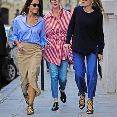I'm here for all three of these outfits.