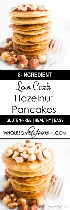 Hazelnut Pancakes (Paleo, Low Carb) | Wholesome Yum - Natural, gluten-free, low carb recipes. 10 ingredients or less.
