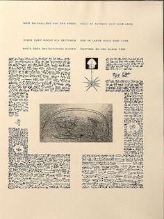Untitled, pg. 18 (right-hand side), in the book Maximiliana ou l'exercice illégal de l'astronomie: L'Art de voir de Guillaume Temple by Max Ernst (Paris: Iliazd, 1964).