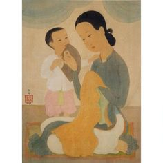 Mai Thu, Mere et Enfant (Mother and Child)